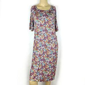 LuLaRoe Julia multicolor Pencil Dress Womens XL